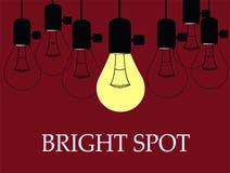 Ampoule de tache lumineuse illustration libre de droits