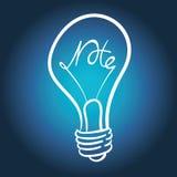 Ampoule de vecteur Images stock