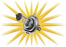 Ampoule de voiture d'isolement sur le fond blanc Photographie stock libre de droits