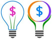 Ampoule du dollar illustration stock