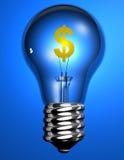 Ampoule du dollar Images libres de droits