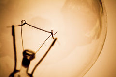 Ampoule et filament image libre de droits