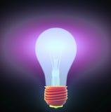 Ampoule et puzzle illustration stock