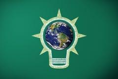 Ampoule et terre Image libre de droits