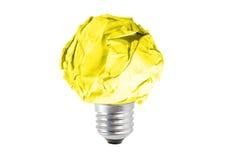 Ampoule faite de papier chiffonné Photos libres de droits