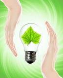 ampoule favorable à l'environnement Photographie stock