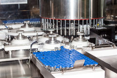 Ampoule filling and sealing machine Stock Photos
