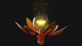 Ampoule-fleur Image stock