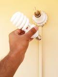 Ampoule fluorescente compacte Photographie stock