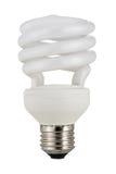 Ampoule fluorescente traditionnelle d'isolement sur le blanc photo libre de droits