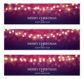 Ampoule Garland Background Vector Illustration de Ligth d'abrégé sur Joyeux Noël illustration libre de droits