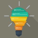 Ampoule infographic Photos libres de droits