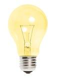 Ampoule jaune d'isolement photos stock