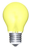 Ampoule jaune d'isolement Images libres de droits