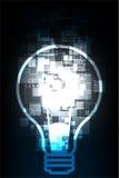 Ampoule numérique de technologie abstraite de vecteur Photos libres de droits