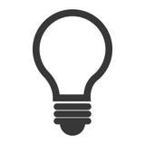 Ampoule ou icône d'isolement grande par idée Photos stock