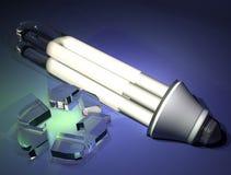 Ampoule réaliste - énergie d'économies photo stock