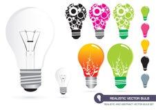 Ampoule réaliste de vecteur Image libre de droits