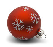 Ampoule rouge de Noël Photo libre de droits