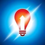 Ampoule rougeoyante dans la lumière bleuâtre Photographie stock libre de droits