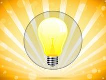 Ampoule sur le fond coloré Image stock