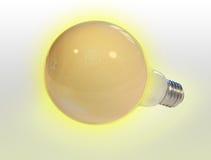 Ampoule sur un fond clair Image stock