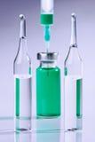 Ampoule and syringe macro Stock Photo