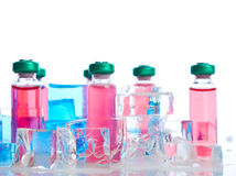Ampoule on vaccine. Ampoule, therapy, vaccine Royalty Free Stock Photography