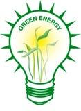 Ampoule verte d'énergie Photo libre de droits