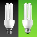 Ampoules économiseuses d'énergie Photos stock