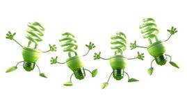 Ampoules économiseuses d'énergie Illustration Libre de Droits