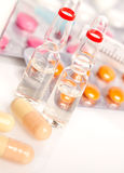Ampoules And Pills Stock Image