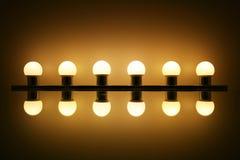 Ampoules avec la réflexion Image libre de droits