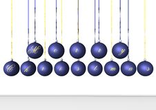 Ampoules bleues Photos libres de droits
