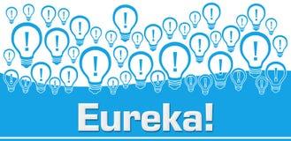 Ampoules bleues de fond d'Eureka sur le dessus Illustration de Vecteur