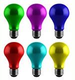 Ampoules colorées illustration stock