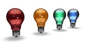Ampoules colorées Images stock