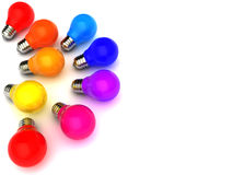 Ampoules colorées Image stock