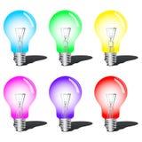 Ampoules colorées illustration de vecteur