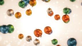 Ampoules colorées de Noël Image libre de droits