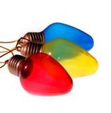 Ampoules colorées primaires photographie stock libre de droits