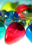 Ampoules colorées - rouge au centre photo libre de droits