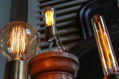 Ampoules d'Edison Photo stock