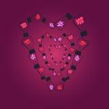 Ampoules dans la forme du coeur illustration de vecteur