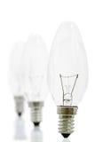 Ampoules dans une ligne Image libre de droits