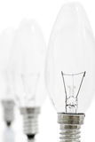Ampoules dans une ligne Images libres de droits