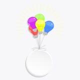 Ampoules de cercle et de ballons illustration de vecteur