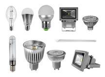 Ampoules de lampe sur le blanc Image libre de droits
