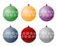 Ampoules de Noël Photographie stock libre de droits