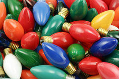 Ampoules de Noël de cru Images libres de droits